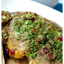 fish, lin, white wine, roasted