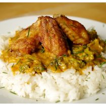 chicken wings curry